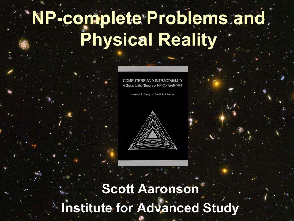 What could we do if we could solve NP-complete problems.