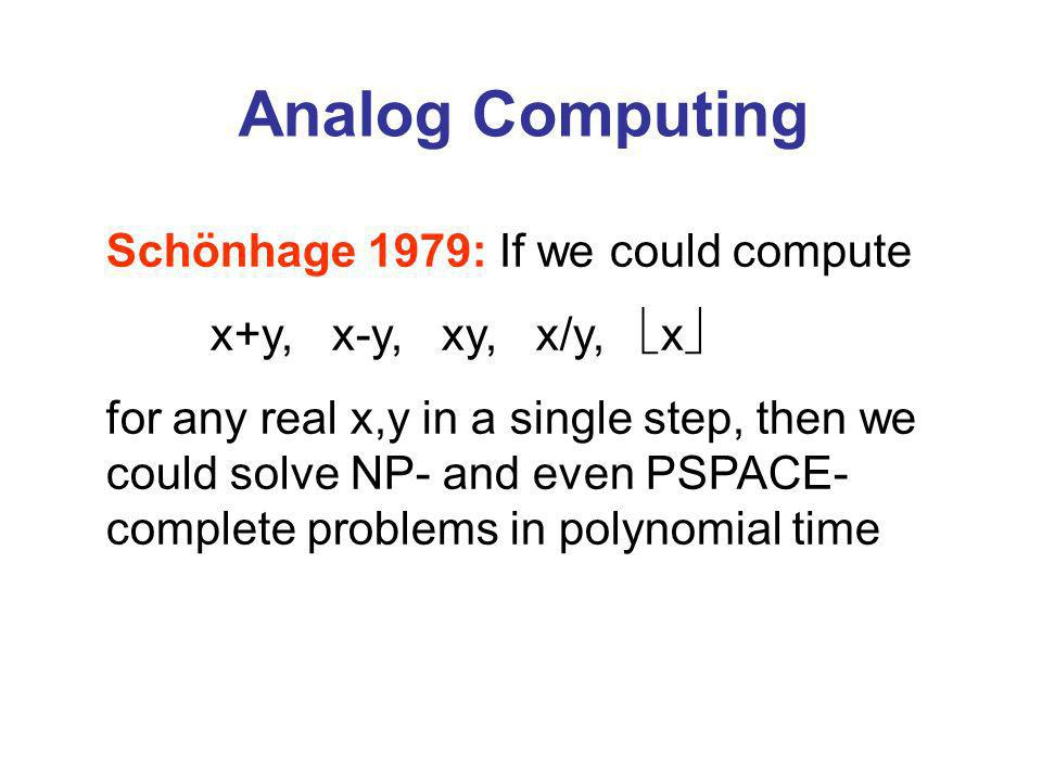 Time Travel Computing with 1 Looping Bit (Adapted from Bacon 2003) x y x y x Chronology-respecting bit Suppose Pr[x=1] = p, Pr[y=1] = q Then consistency requires p=q So Pr[x y=1] = p(1-q) + q(1-p) = 2p(1-p) Causal loop