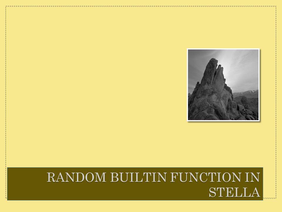 RANDOM BUILTIN FUNCTION IN STELLA