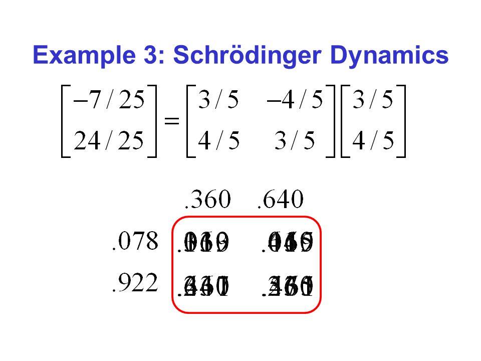 Example 3: Schrödinger Dynamics