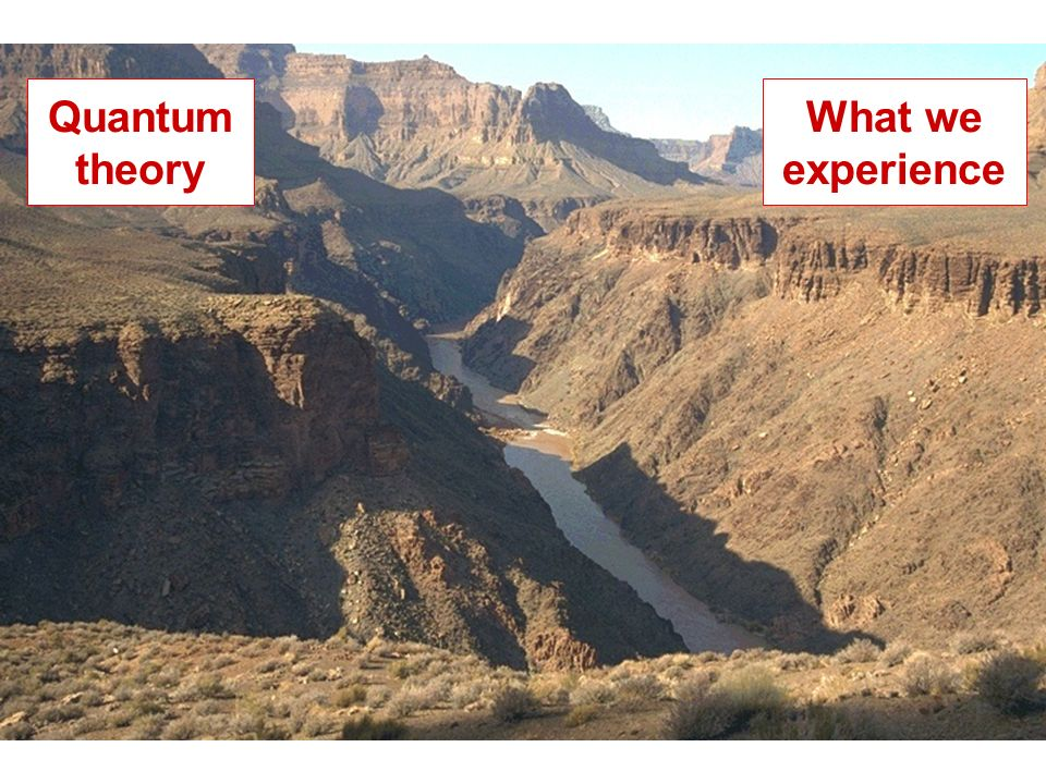What we experience Quantum theory