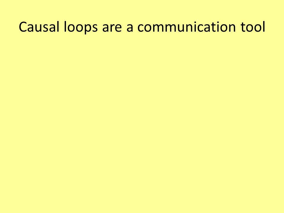 Causal loops are a communication tool