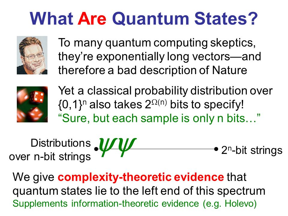 What Are Quantum States.