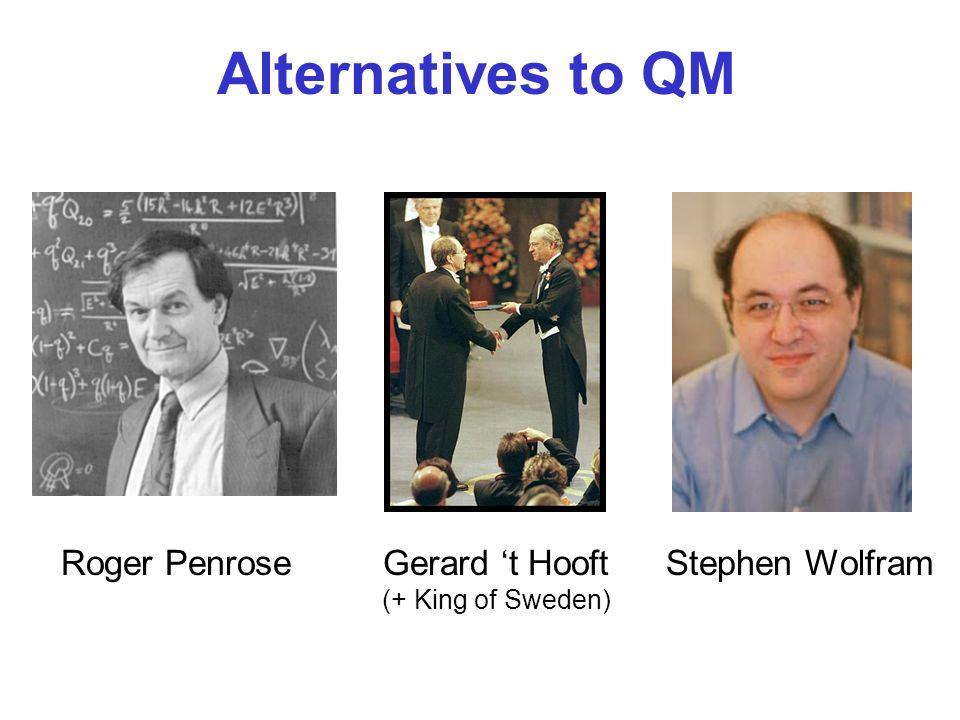 Alternatives to QM Roger PenroseGerard t Hooft (+ King of Sweden) Stephen Wolfram