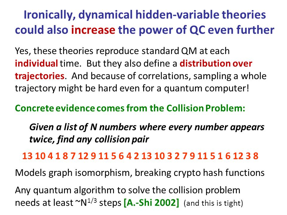 Yes, these theories reproduce standard QM at each individual time.