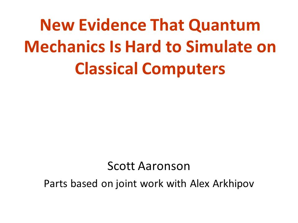 In 1994, something big happened in the foundations of computer science, whose meaning is still debated today… Why exactly was Shors algorithm important.