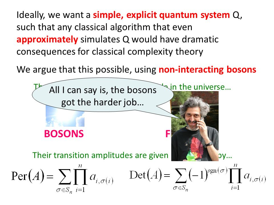 U Our Current Result Take a system of n photons with m=O(n 2 ) modes each.