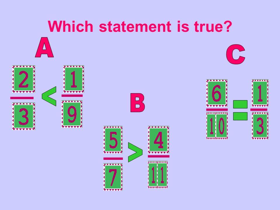 Which statement is true?