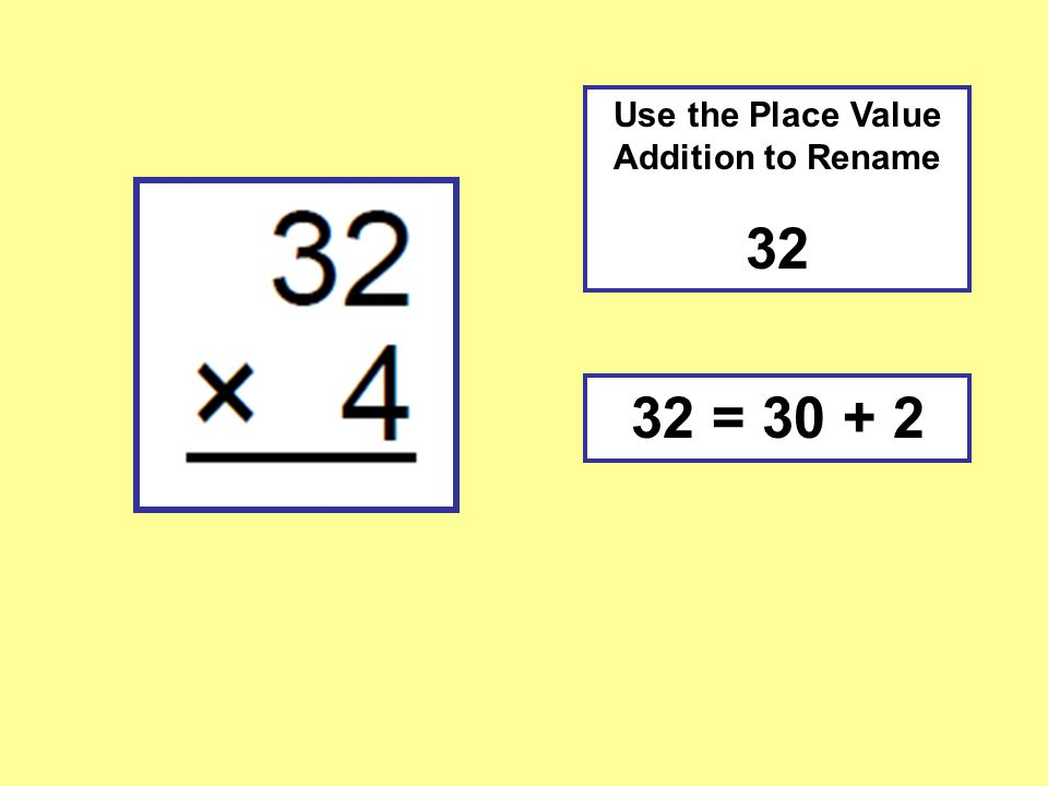 Use the Place Value Addition to Rename =