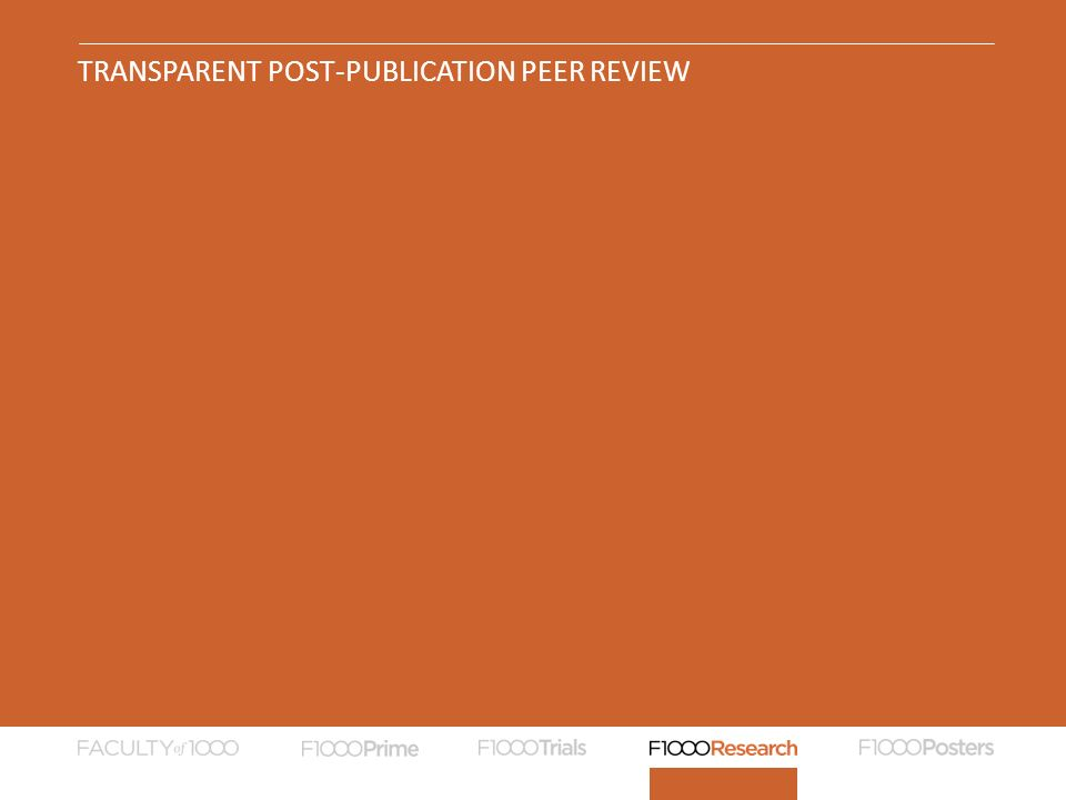 TRANSPARENT POST-PUBLICATION PEER REVIEW