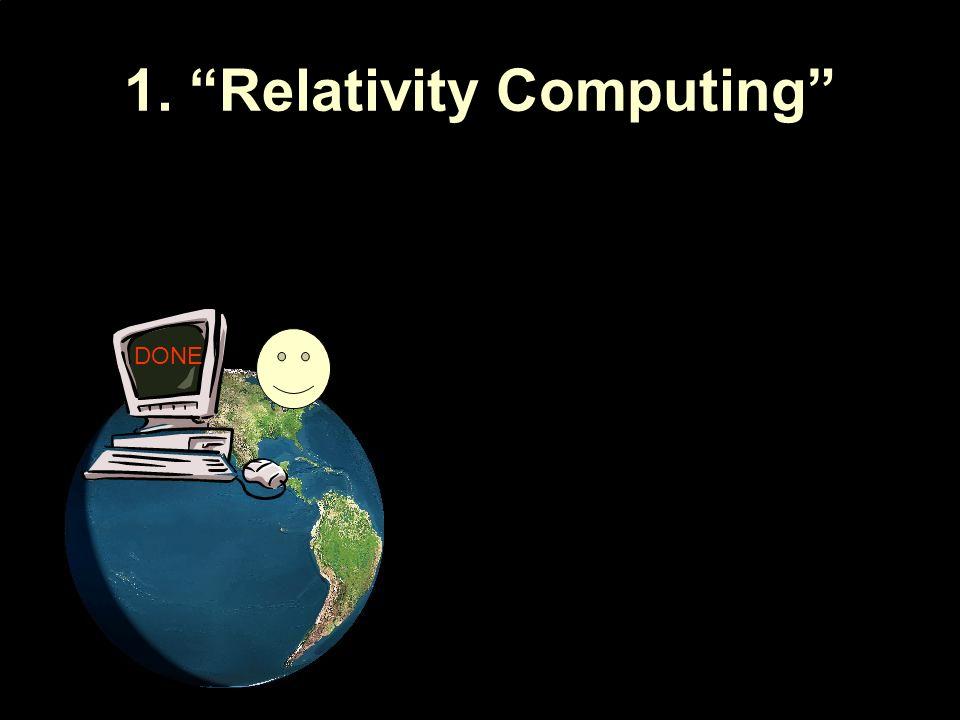 1. Relativity Computing DONE