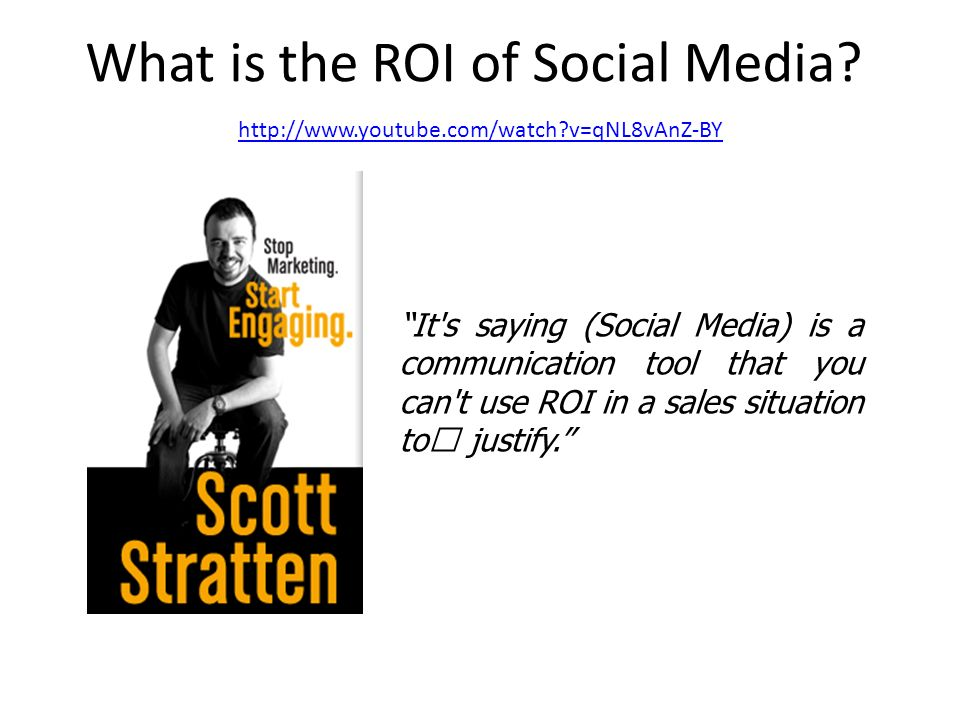 What is the ROI of Social Media.