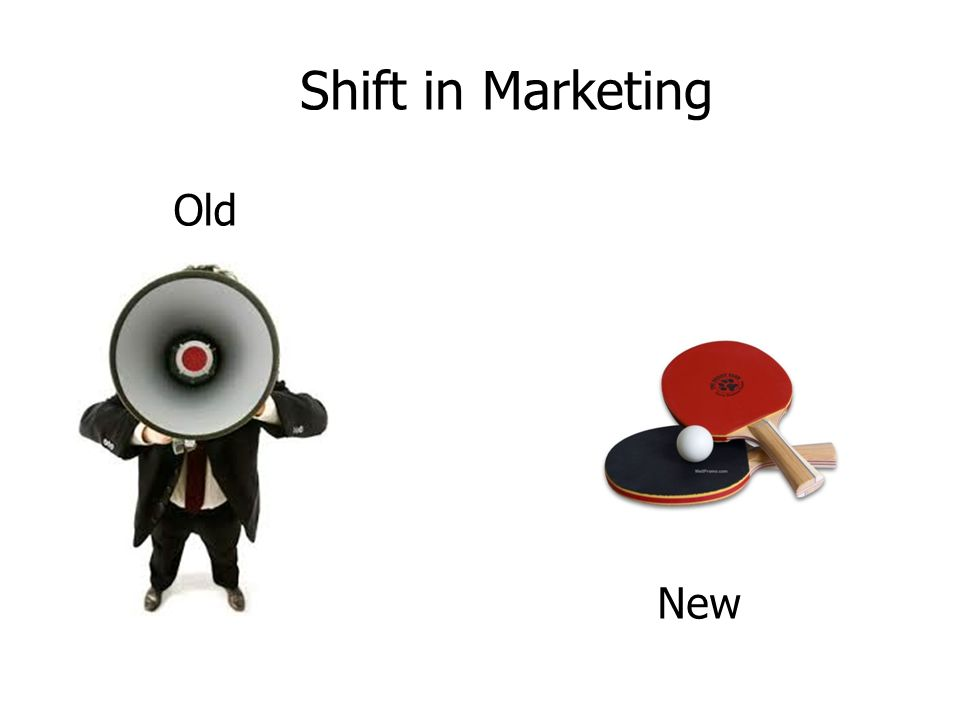 Old New Shift in Marketing
