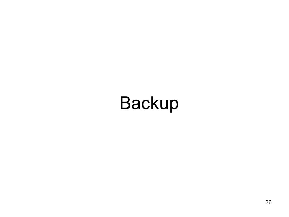 26 Backup