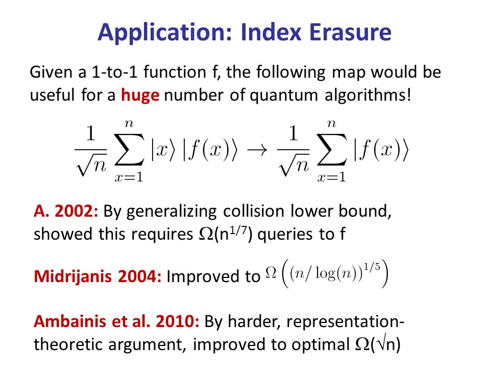 Given a 1-to-1 function f, the following map would be useful for a huge number of quantum algorithms.
