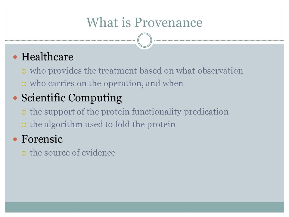 Why Need An Access Control on Provenance Provenance is sensitive The patient privacy, e.g.