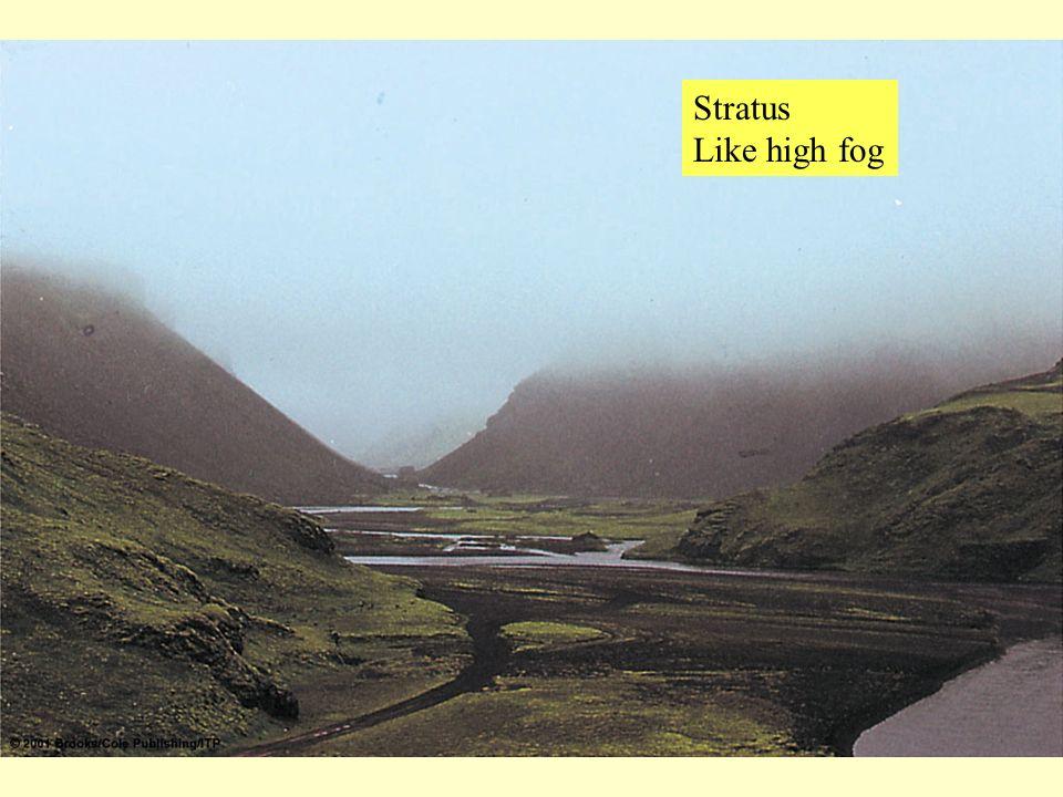 Stratus Like high fog