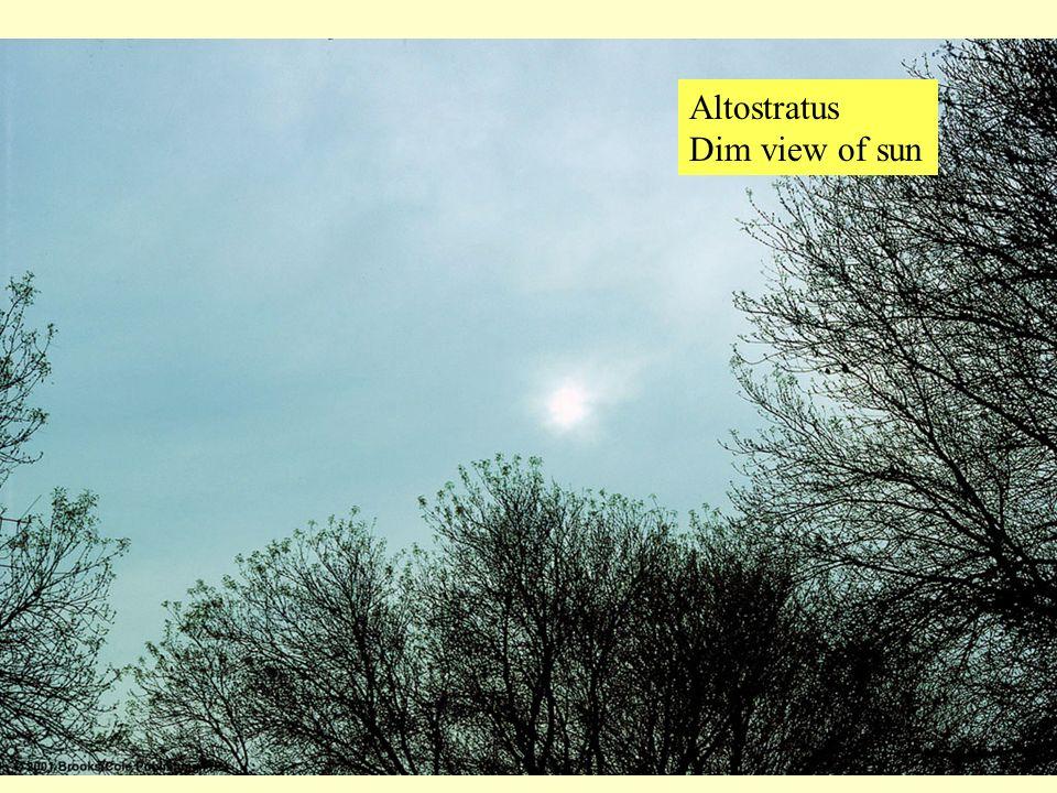 Altostratus Dim view of sun