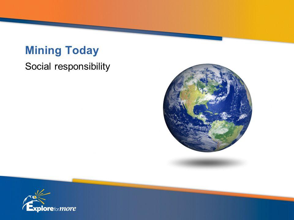 Mining Today Social responsibility
