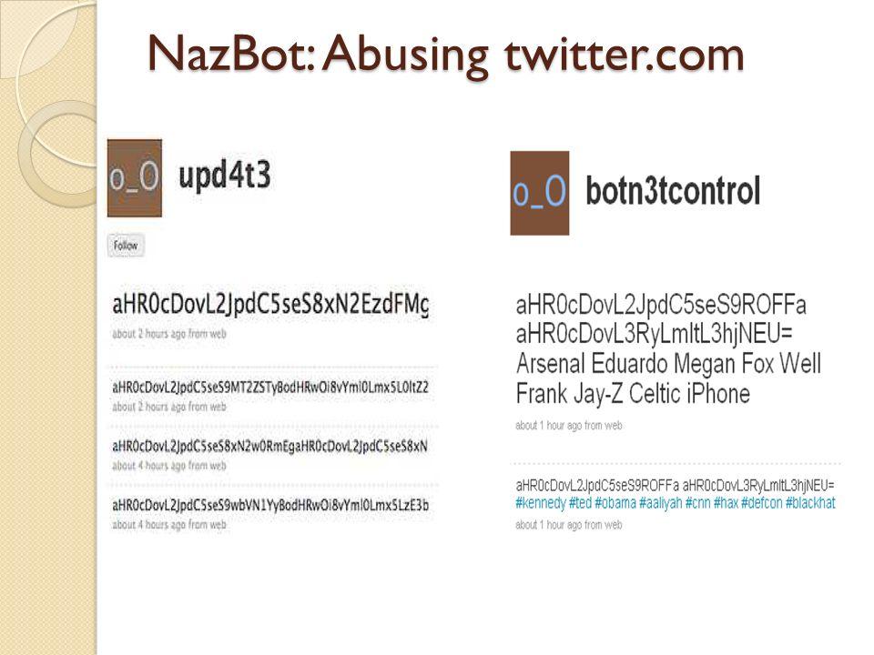 NazBot: Abusing twitter.com