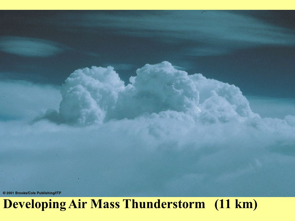 Dissipating Air Mass Thunderstorm