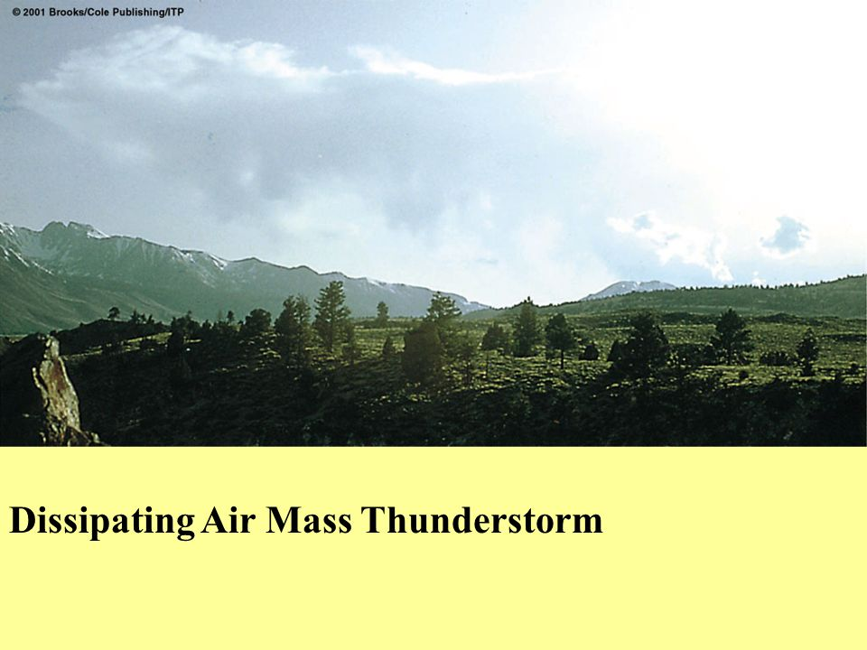 Dissipating Air Mass Thunderstorm