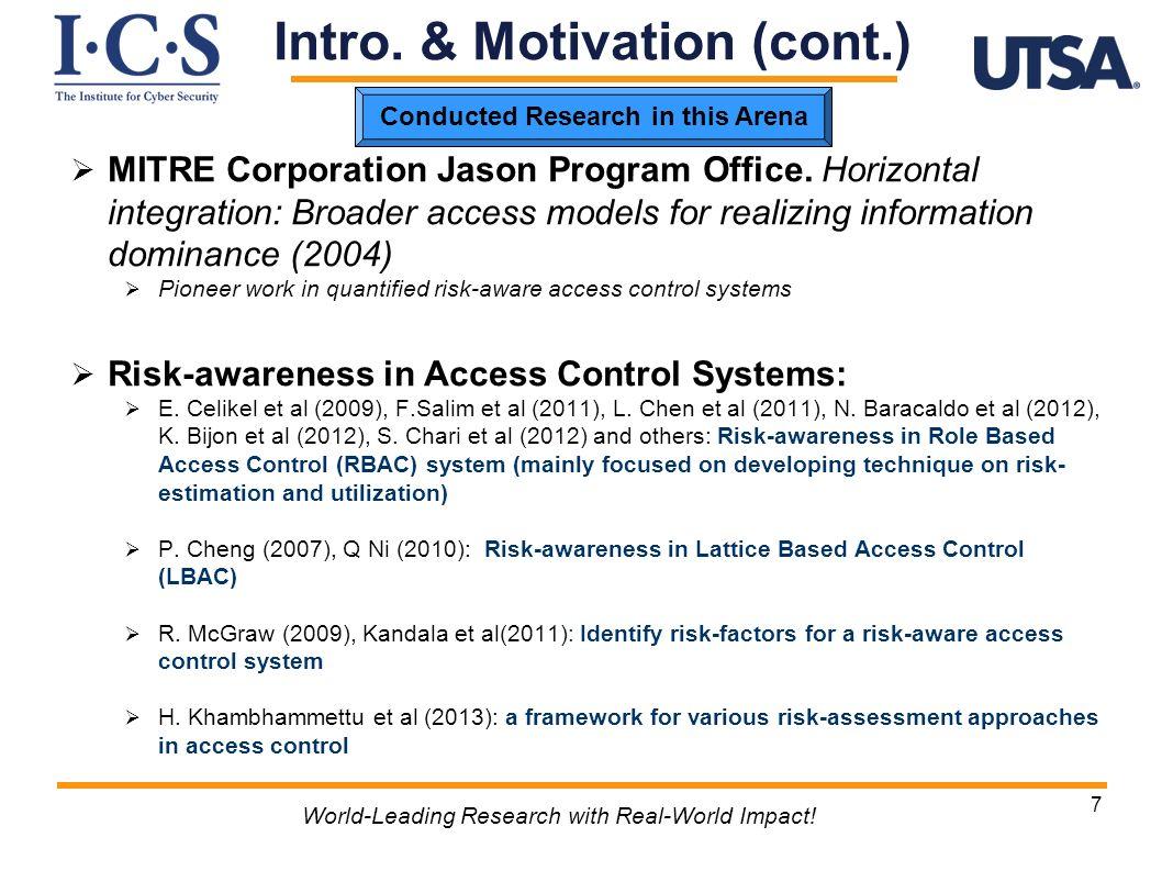 MITRE Corporation Jason Program Office. Horizontal integration: Broader access models for realizing information dominance (2004) Pioneer work in quant