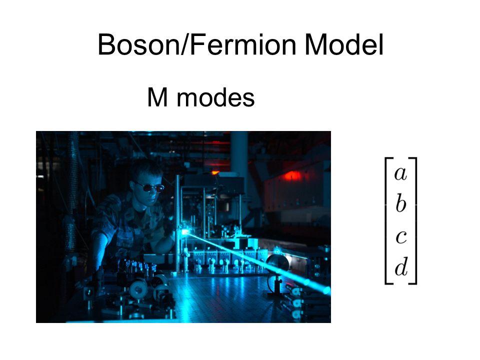 Boson/Fermion Model M modes