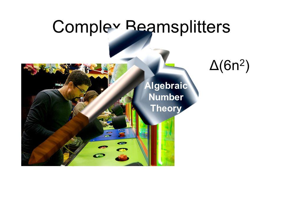 Complex Beamsplitters Δ(6n 2 ) Algebraic Number Theory