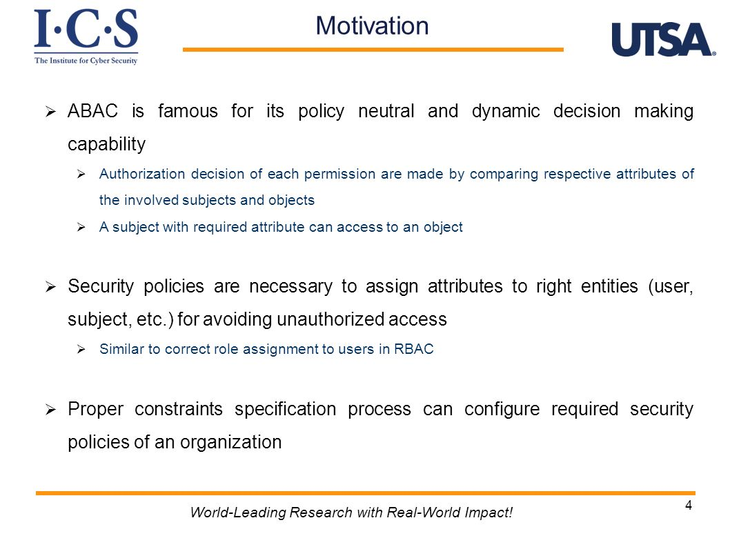 Conclusion World-Leading Research with Real-World Impact.