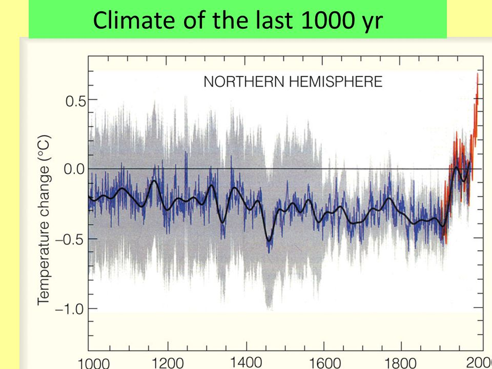Climate of the last 1000 yr