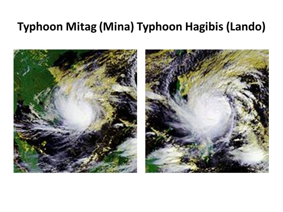 Typhoon Mitag (Mina) Typhoon Hagibis (Lando)