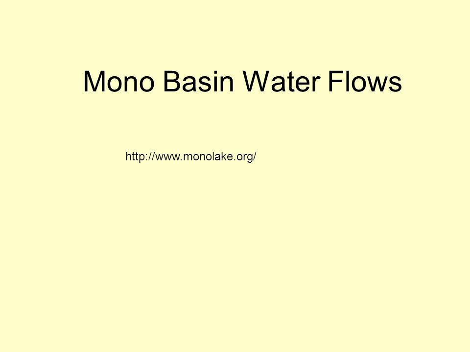 Mono Basin Water Flows http://www.monolake.org/
