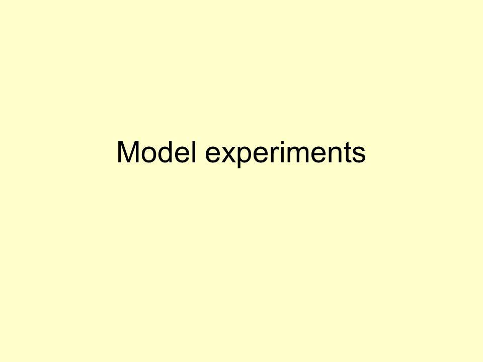 Model experiments