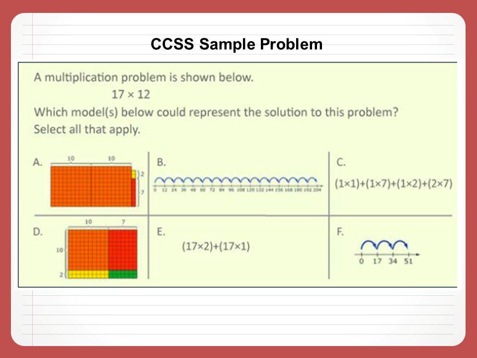 CCSS Sample Problem