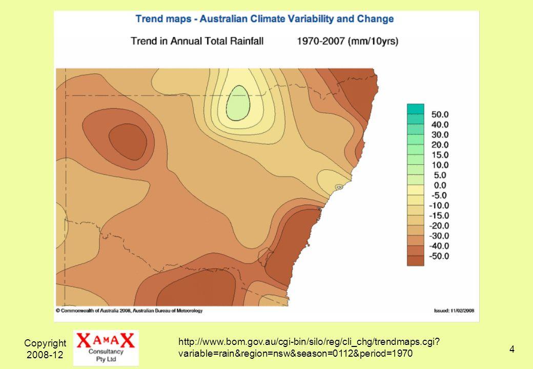 Copyright 2008-12 5 http://www.bom.gov.au/cgi-bin/silo/reg/cli_chg/ timeseries.cgi?variable=tmean&region=seaus&season=0112