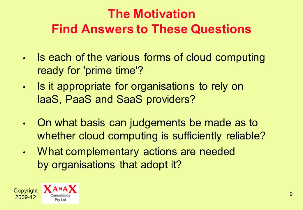 Copyright 2009-12 20 Levels of Cloudsourcing Infrastructure as a Service (IaaS) 1960s on– Remote Application Hosting Platform as a Service (PaaS) 1990s on– Remote Servers Software as a Service (SAAS) 1980s– Application Service Providers (ASPs) 1990s– Hotmail => Webmail 2004– Gmail 2005– Zoho 2006– GDocs