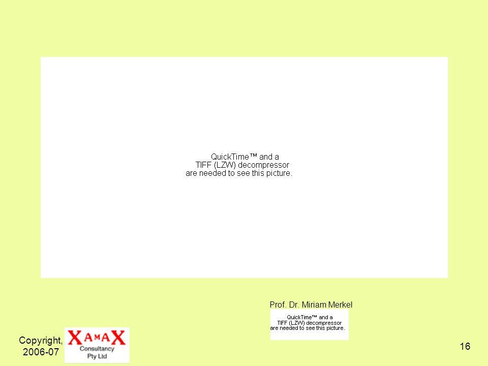Copyright, 2006-07 16 Prof. Dr. Miriam Merkel
