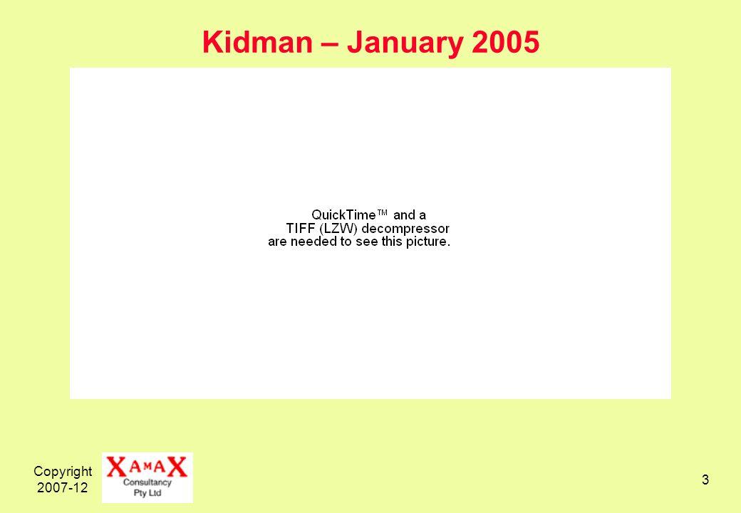 Copyright 2007-12 3 Kidman – January 2005