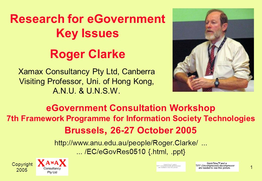 Copyright Xamax Consultancy Pty Ltd, Canberra Visiting Professor, Uni.