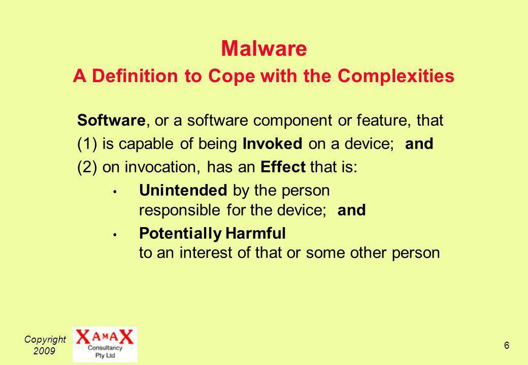 Copyright 2009 27 Virus...