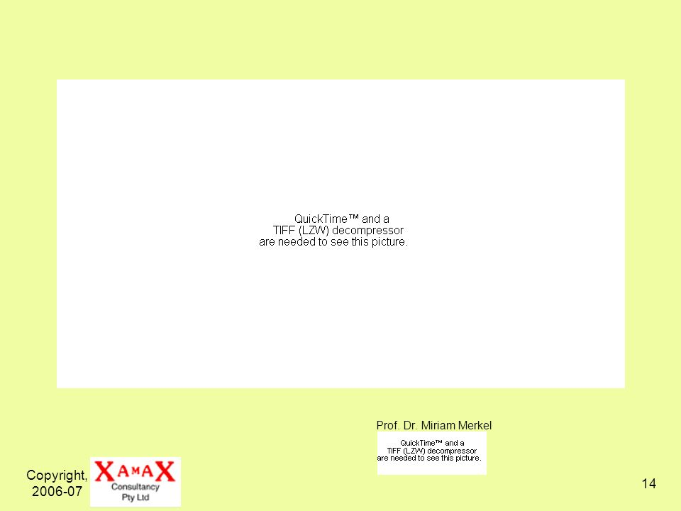 Copyright, 2006-07 14 Prof. Dr. Miriam Merkel