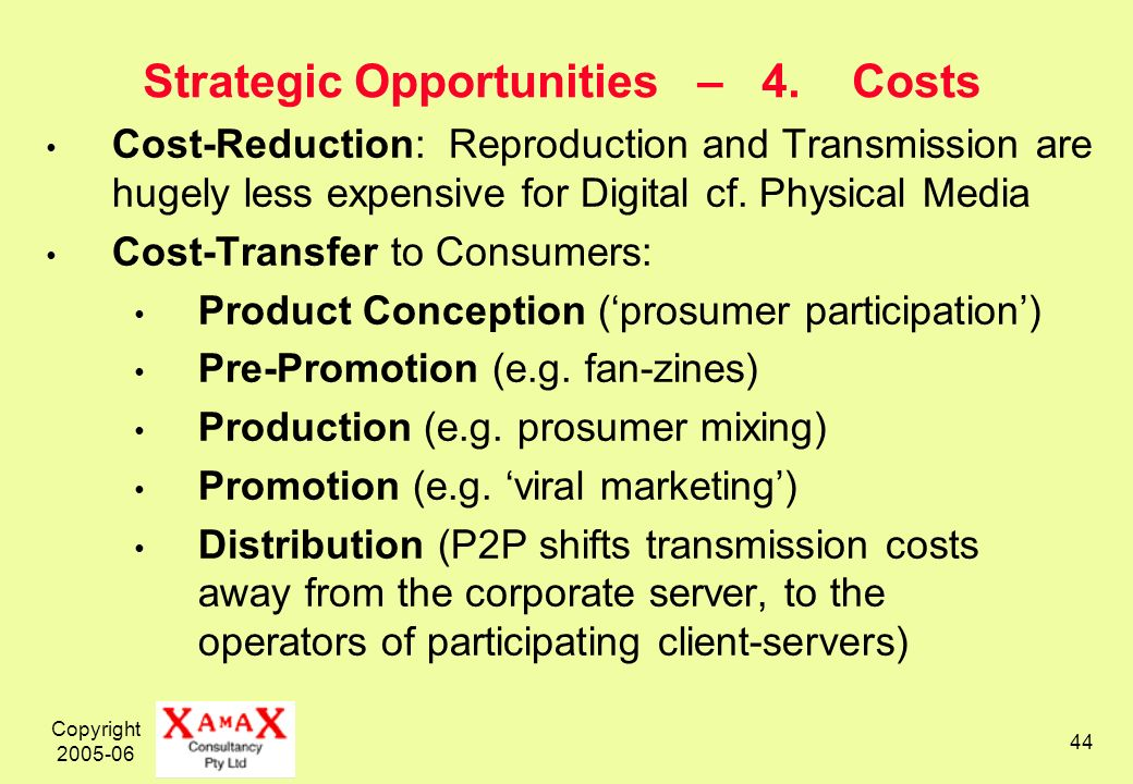 Copyright 2005-06 44 Strategic Opportunities – 4.