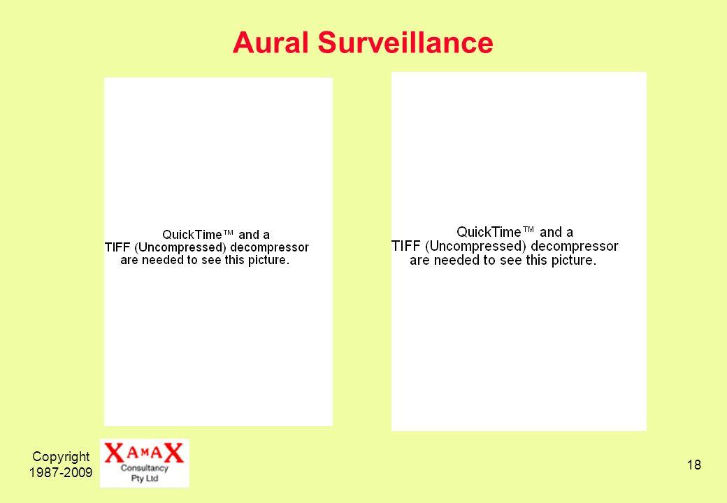 Copyright 1987-2009 18 Aural Surveillance