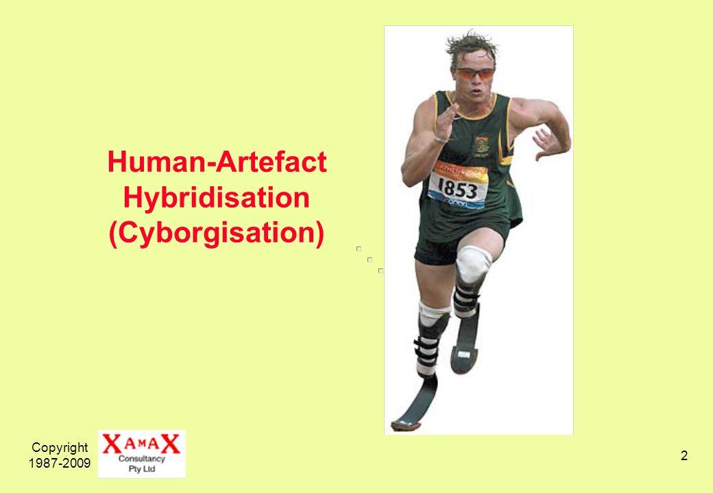 Copyright 1987-2009 2 Human-Artefact Hybridisation (Cyborgisation)