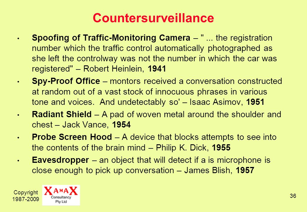 Copyright 1987-2009 36 Countersurveillance Spoofing of Traffic-Monitoring Camera – ...