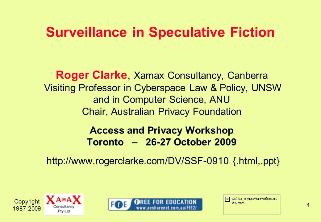 Copyright 1987-2009 35 Human Implantation Radiant – a substance injected into the shoulder, providing positioning, information – Jack Vance, 1954 The Ring – A surgically implanted electronic monitor that caused agony when a convict strayed...