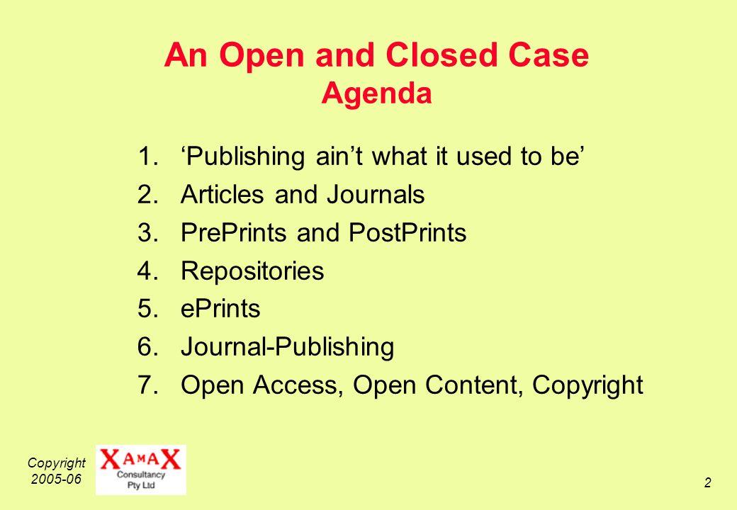 Copyright 2005-06 3 Conventional Publishing, 1450-1995 Desk-Top Publishing, 1985-20..