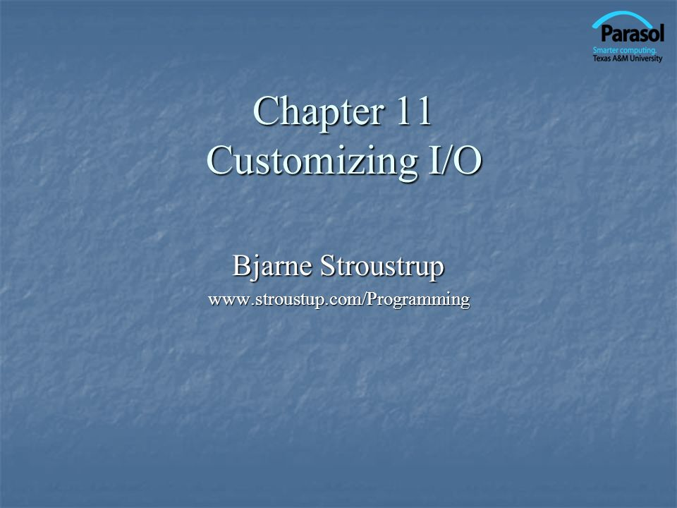 Overview Input and output Input and output Numeric output Numeric output Integer Integer Floating point Floating point File modes File modes Binary I/O Binary I/O Positioning Positioning String streams String streams Line-oriented input Line-oriented input Character input Character input Character classification Character classification 2Stroustrup/Programming