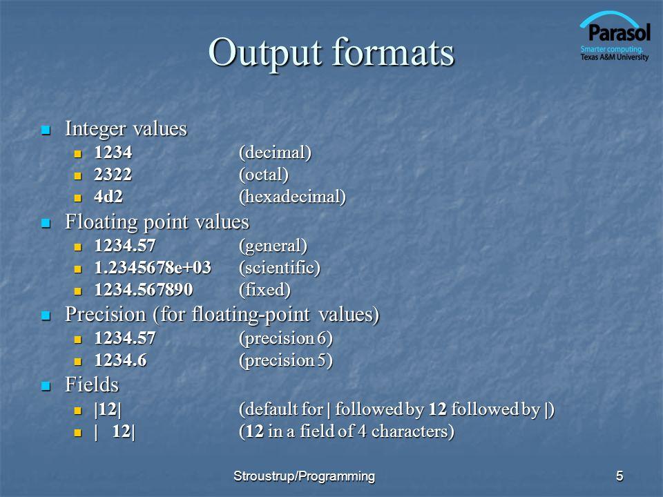 Line-oriented input Prefer >> to getline() Prefer >> to getline() i.e.
